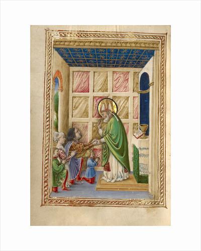 Saint Bellinus Celebrating Mass by Taddeo Crivelli