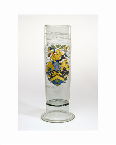 Beaker with the Arms of Puchner (Stangenglas) by Anonymous