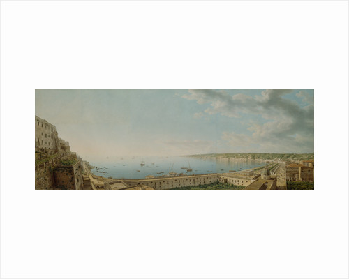 A View of the Bay of Naples, Looking Southwest from the Pizzofalcone towards Capo di Posilippo by Giovanni Battista Lusieri