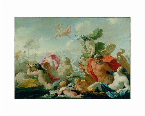 Marine Gods Paying Homage to Love by Eustache Le Sueur