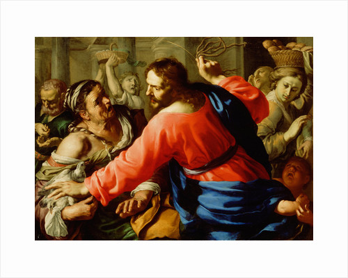 Christ Cleansing the Temple by Bernardino Mei