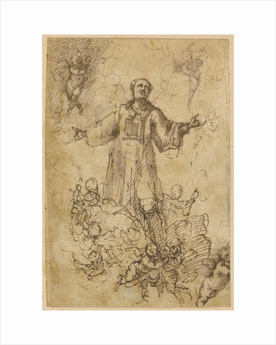 A Male Saint in Glory by Pedro Atanasio Bocanegra