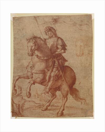 A Saint on Horseback by Circle of Giovanni Battista Cima da Conegliano