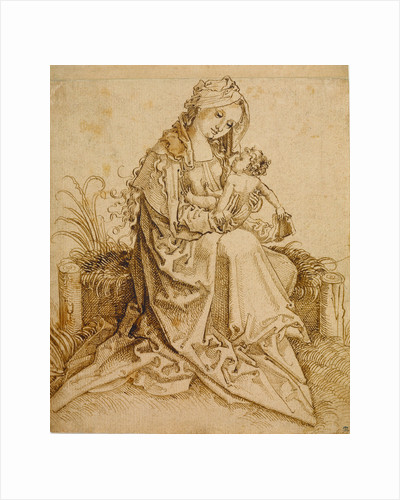 The Virgin and Child on a Grassy Bench by Anonymous