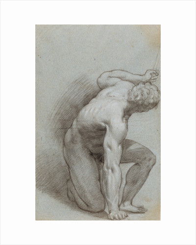 Kneeling Figure (recto), Reclining Figure (verso) by Agostino Carracci