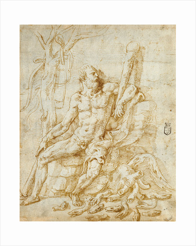 Hercules Resting after Killing the Hydra by Giulio Romano