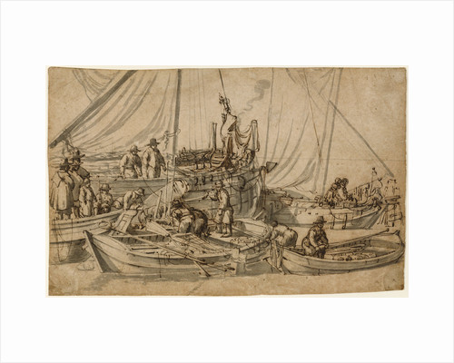 Figures on Board Small Merchant Vessels by Willem van de Velde the Elder
