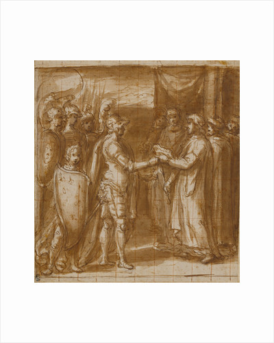 Cardinal Albornoz Gives the Farnese the Keys to Valentino by Taddeo Zuccaro
