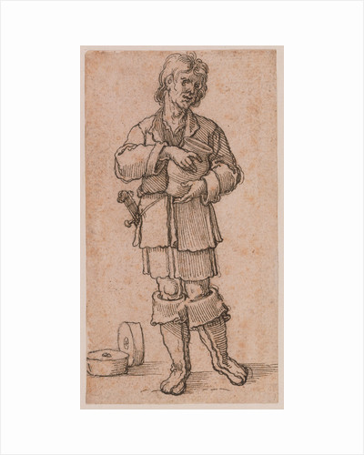 A Young Peasant Holding a Jar by Sebald Beham