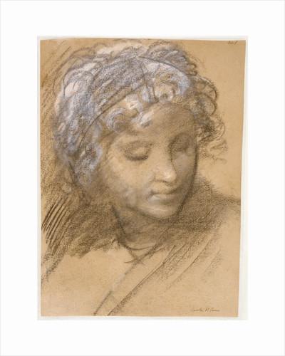Head of a Female Figure (recto), Female Nude (verso) by Giulio Cesare Procaccini