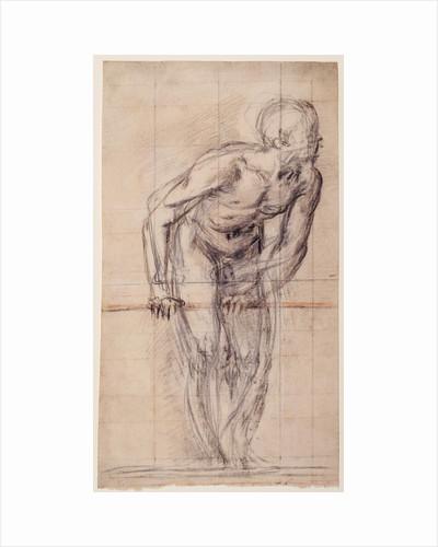 A Standing Male Nude (recto), A Standing Male Nude (verso) by Giovanni Battista Naldini
