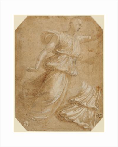 Study of an Angel and of Drapery by Innocenzo da Imola
