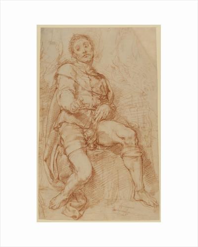 A Seated Man by Bernardino Poccetti
