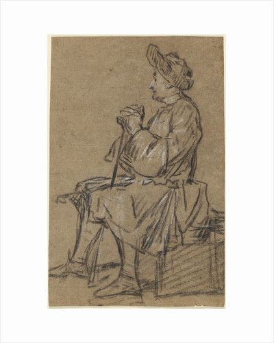 Study of a Seated Man (recto), Study of a Male Nude (verso) by Jean-Siméon Chardin