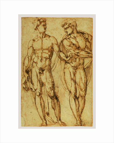 Study of Two Men (recto), Study of the Head of a Bearded Man (verso) by Baccio Bandinelli