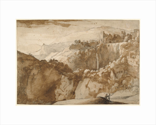 View of Tivoli (recto), View of Tivoli (verso) by Claude Lorrain
