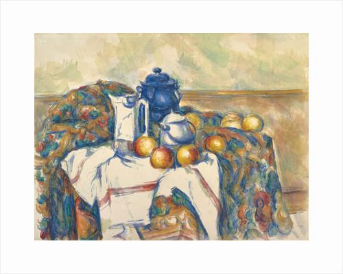 Still Life with Blue Pot by Paul Cézanne