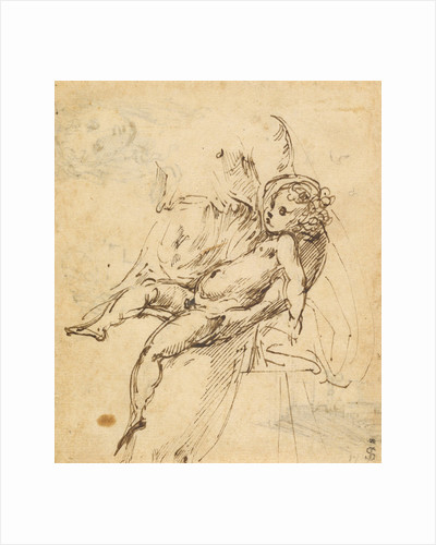 Studies of the Madonna and Child (recto), Studies of the Madonna and Child and of an Architectural Detail (verso) by Parmigianino