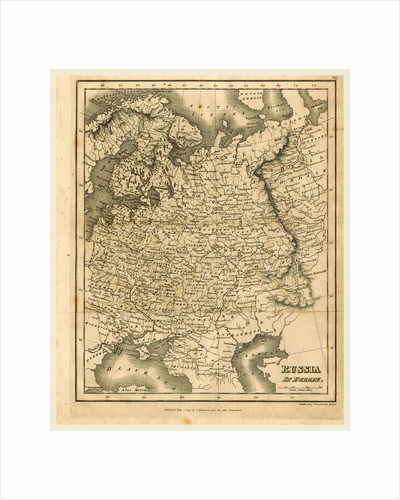 Map of Russia, 1819, J. Mawman by J. Mawman