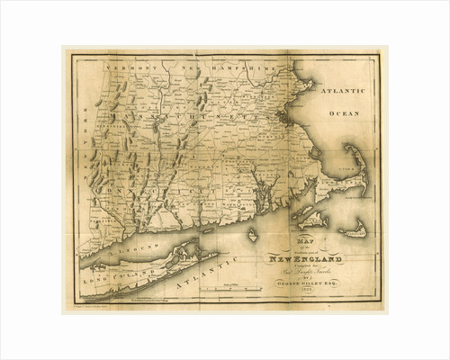 Map of the southern part of New England, 1823 by Anonymous