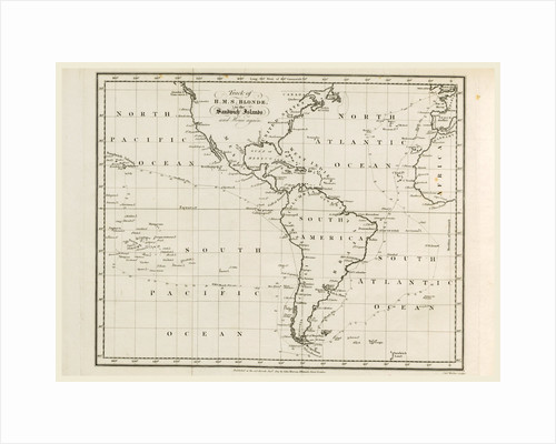 Map, Voyage of H.M.S. Blonde to the Sandwich Islands, in the years 1824-1825 by Anonymous