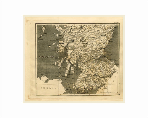 Scotland, map 1824, A Topographical Dictionary of the United Kingdom by Anonymous
