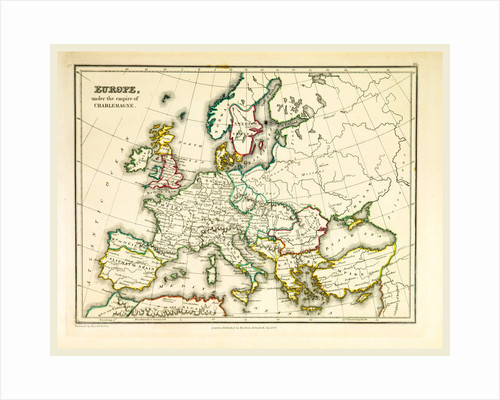 Europe map, 1830 by Anonymous