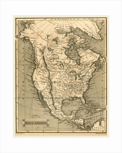 North America map, The General Gazetteer the eighteenth edition, with very considerable additions by A. Picquot by Anonymous