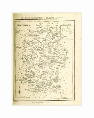 Map wiltshire, UK by Anonymous