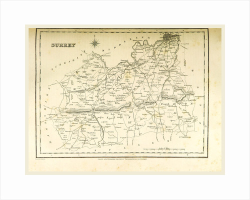 Map Surrey by Anonymous