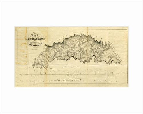 Map Rail Road from Frederick Town to Pennsylvania Line Report on the new map of Maryland, 1836 by Anonymous