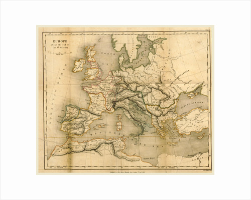 Map Europe end of the fifth century by Anonymous