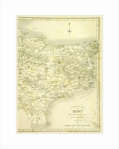 Map, County of Kent, 1839 by Anonymous