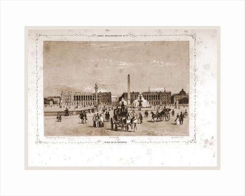 Place de la Concorde, Paris and surroundings by M. C. Philipon