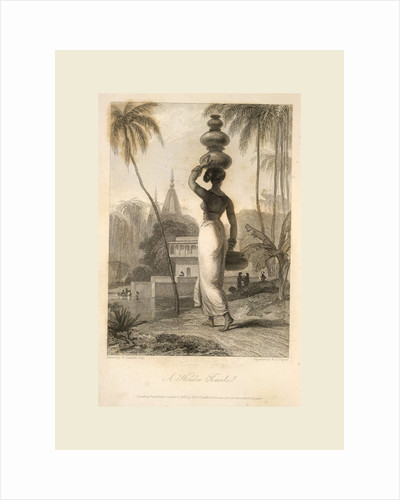 The Oriental Annual, etc. 1834-1838, A Hindoo female by Anonymous