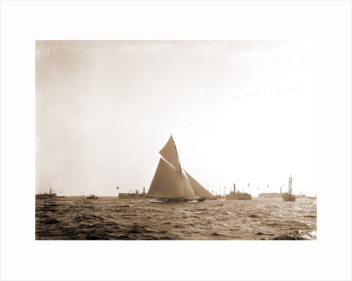 Finish of the Valkyrie, Valkyrie II (Yacht) by Anonymous
