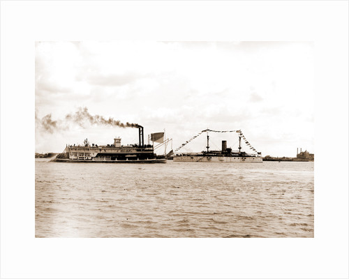 U.S.S. Texas and the Whisper, Texas (Battleship) by Anonymous