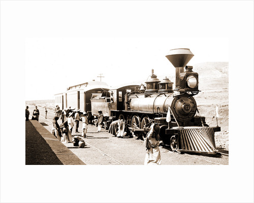 Mexican Central Railway train at station, Mexico by Anonymous