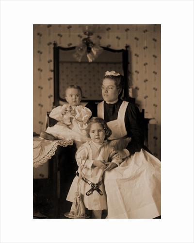 W.H. Jackson family, W.H. Jackson's grandchildren with nurse by Anonymous