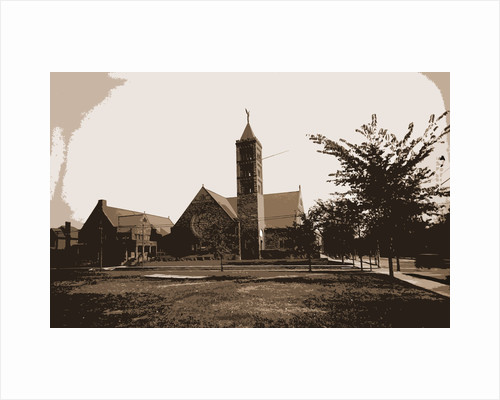 Church with tall tower, possibly in Detroit by Anonymous