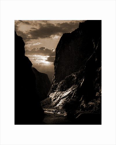 Sunset in the Royal Gorge, Col by Anonymous