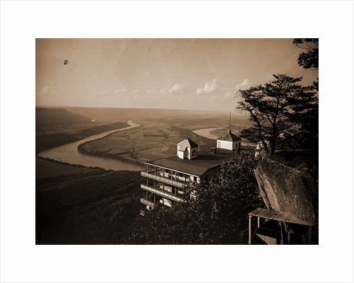 Point Hotel and the battlefield, Lookout Mountain by Anonymous