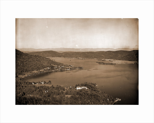 Foot of lake from Rogers' Rock heights, Lake George by Anonymous