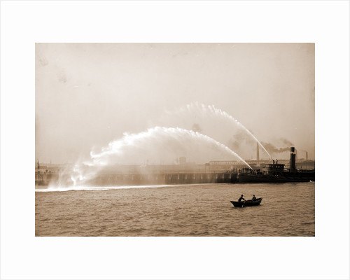 Fireboat 44 in action, Boston by Anonymous