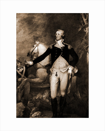 George Washington, full-length portrait by horse by George Washington
