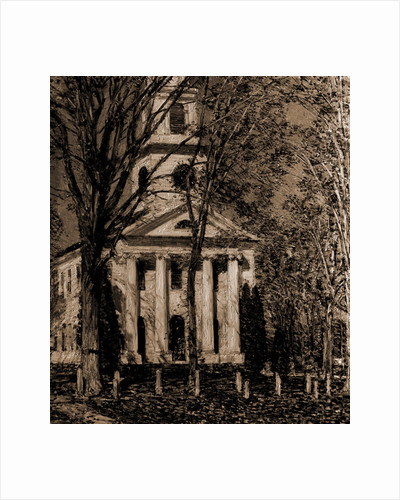 Church in autumn by Anonymous