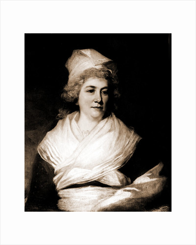 Sarah Franklin Bache, head and shoulders portrait by John Hoppner