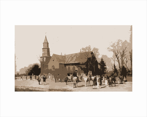 Old Bruton Church in the time of Lord Dunmore by Alfred Wordsworth Thompson