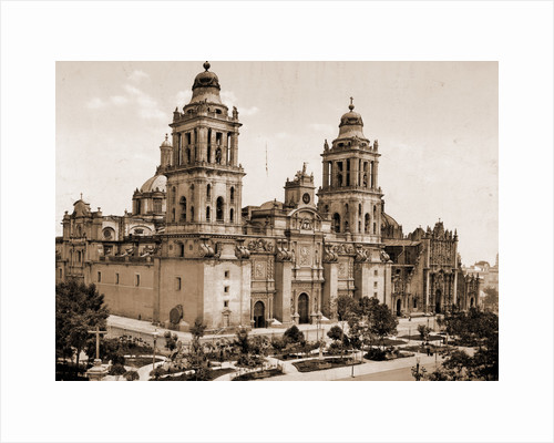 Mexico, the Cathedral, City of Mexico by William Henry Jackson