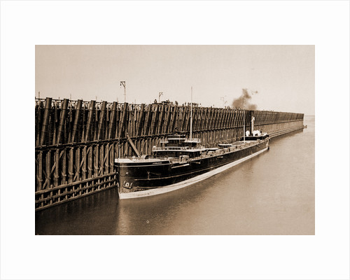 The Escanaba ore docks, Ore industry by Anonymous